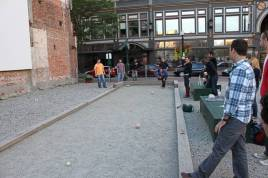 Vacant lots can become simple community spaces. Providence, RI has turned this lot into a Bocce Ball Court!
