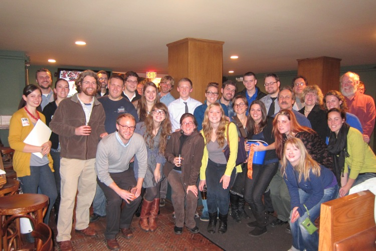 The Buffalo's Young Preservationists at the December Happy Hour & Fundraiser.