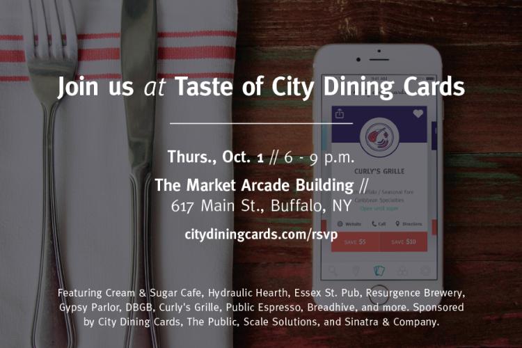 Taste of City Dining Cards BUFFALO!